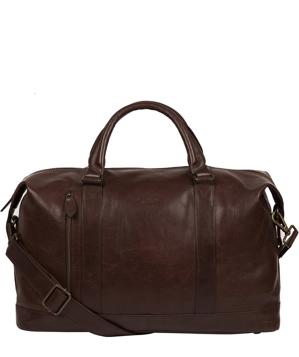 'Rivellino' Dark Brown Leather Holdall image 1