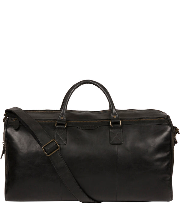 'Edu' Black Leather Holdall image 1