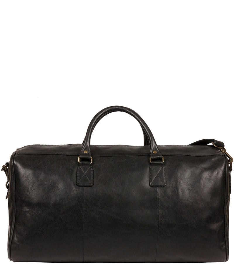 'Edu' Black Leather Holdall image 3