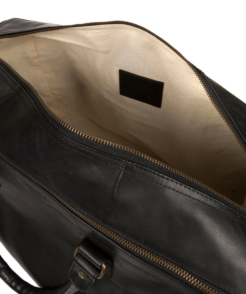 'Edu' Black Leather Holdall image 4