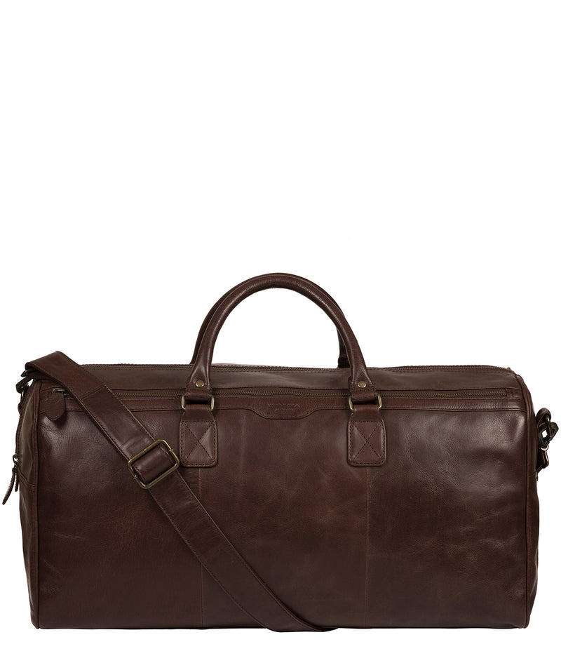 'Edu' Dark Brown Leather Holdall image 1