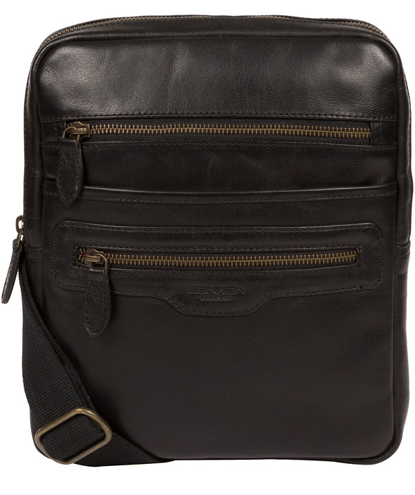 'Jairizinho' Black Leather Cross Body Bag image 1