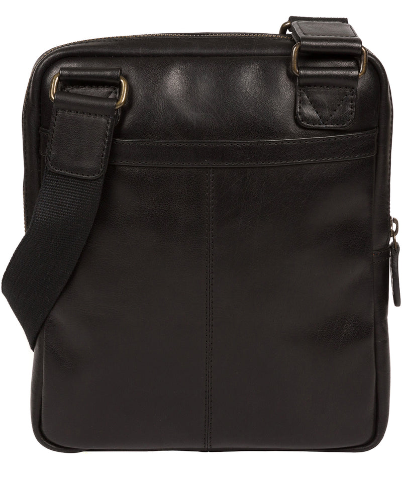 'Jairizinho' Black Leather Cross Body Bag image 3
