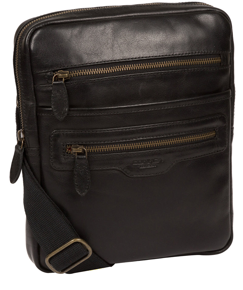 'Jairizinho' Black Leather Cross Body Bag image 5