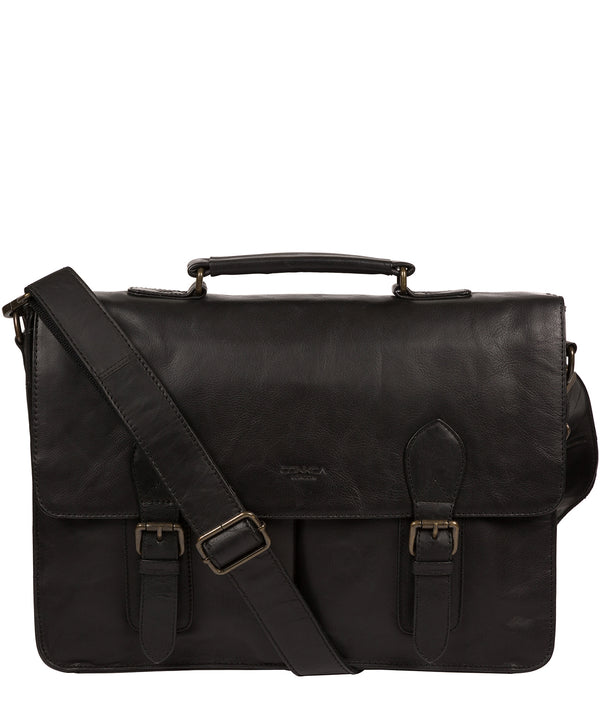 'Scolari' Black Leather Briefcase image 1