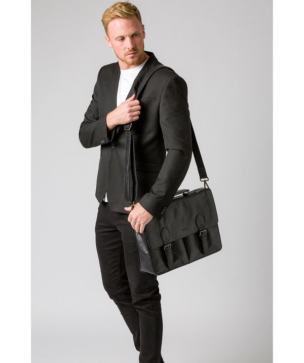 'Scolari' Black Leather Briefcase image 2