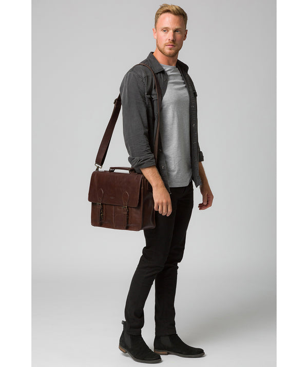 'Scolari' Dark Brown Leather Briefcase image 2