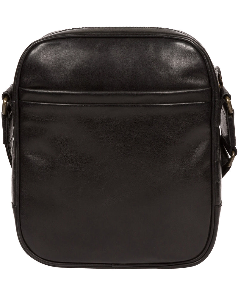 'Carlos' Black Leather Cross Body Bag image 3