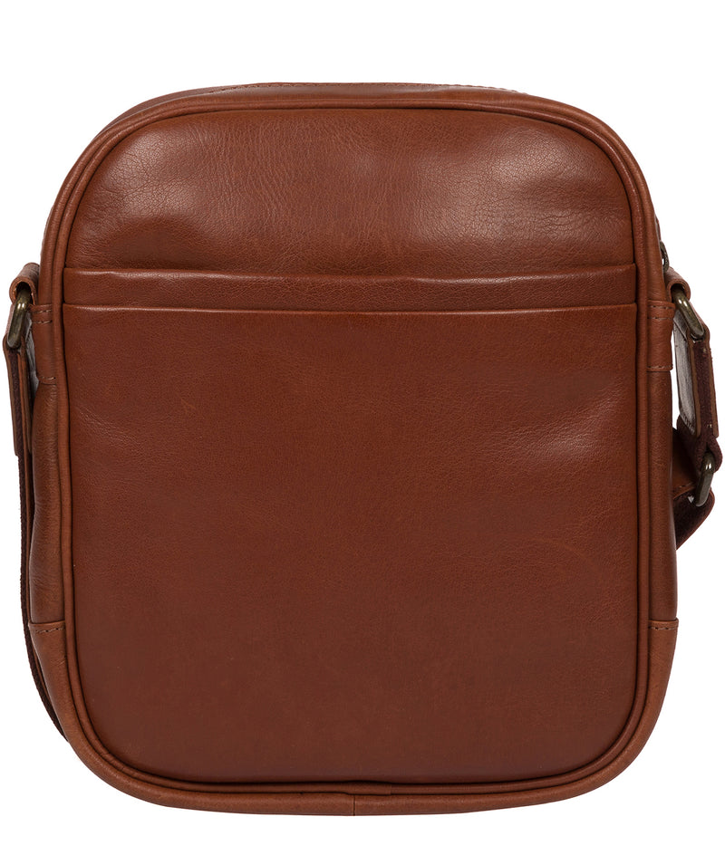 'Carlos' Conker Brown Leather Cross Body Bag image 3