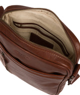 'Carlos' Conker Brown Leather Cross Body Bag image 4