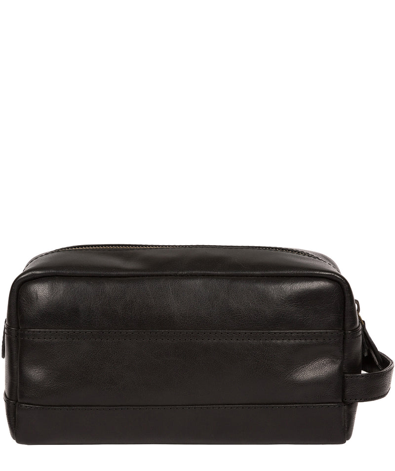 'Careca' Black Leather Washbag image 3
