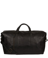 'Gerson' Black Leather Holdall image 1