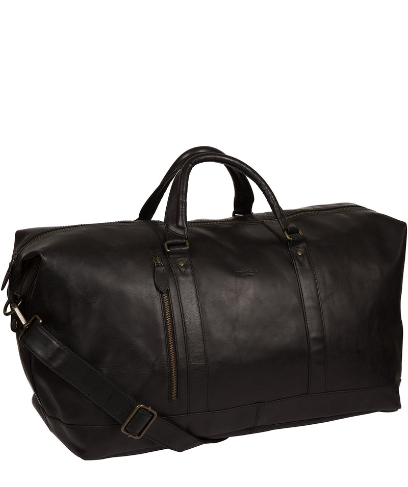 'Gerson' Black Leather Holdall image 5