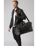 'Gerson' Black Leather Holdall