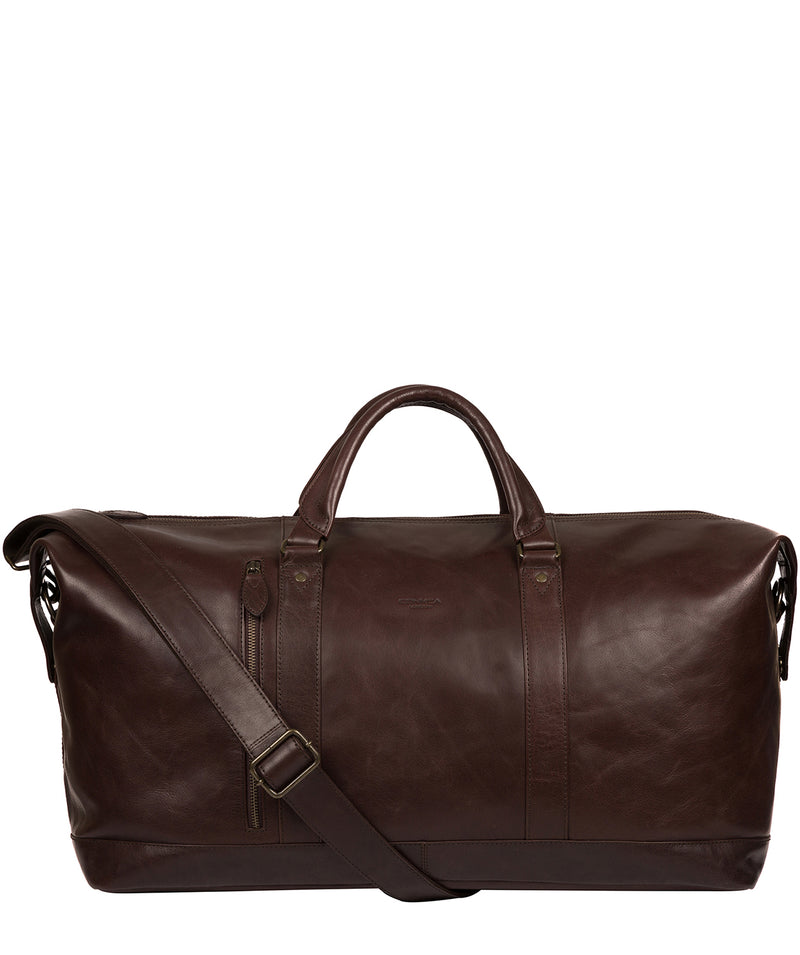 'Gerson' Dark Brown Leather Holdall image 1