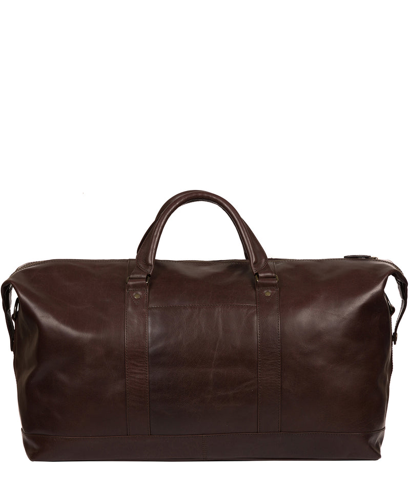 'Gerson' Dark Brown Leather Holdall image 3