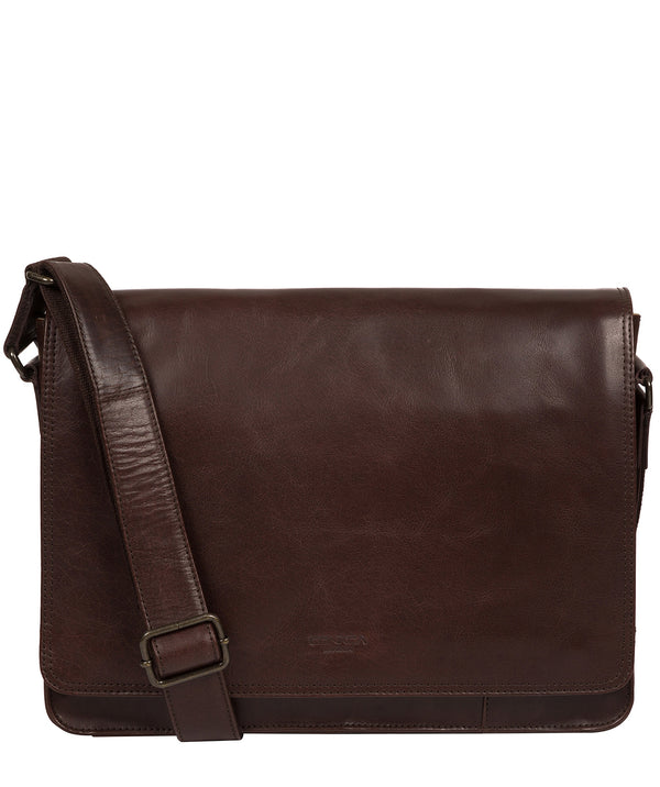 'Zagallo' Dark Brown Leather Messenger Bag image 1