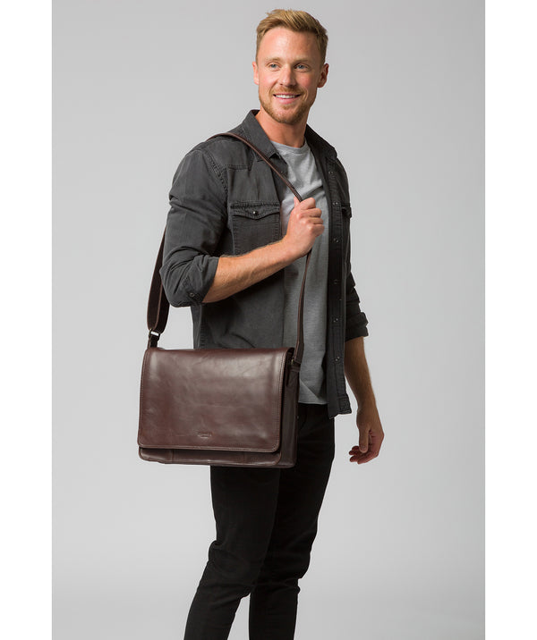 'Zagallo' Dark Brown Leather Messenger Bag image 2