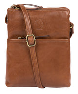 'Fernandez' Conker Brown Leather Cross Body Bag image 1
