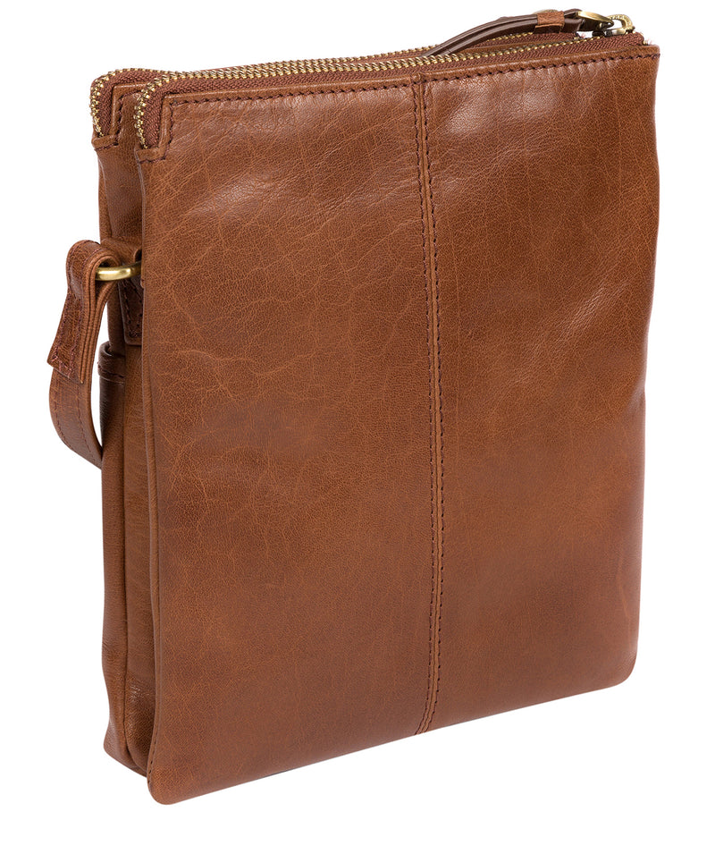 'Fernandez' Conker Brown Leather Cross Body Bag image 3