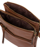 'Fernandez' Conker Brown Leather Cross Body Bag image 4