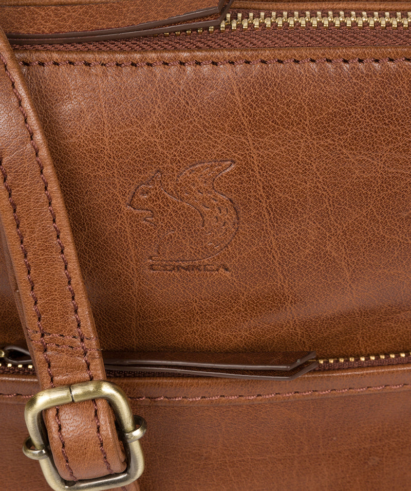 'Fernandez' Conker Brown Leather Cross Body Bag image 5