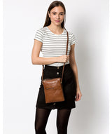 'Fernandez' Conker Brown Leather Cross Body Bag image 2