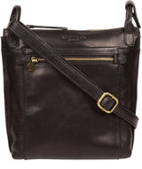 'Rego' Black Leather Cross Body Bag image 1
