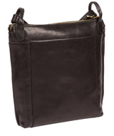'Rego' Black Leather Cross Body Bag Pure Luxuries London