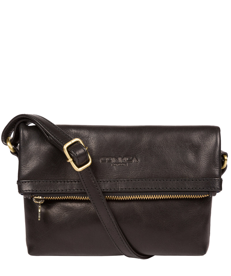'Emin' Black Leather Cross Body Bag image 1