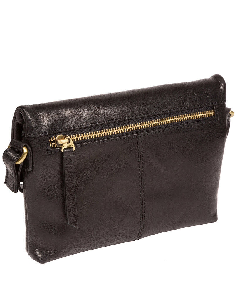 'Emin' Black Leather Cross Body Bag image 3