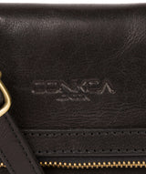 'Emin' Black Leather Cross Body Bag Pure Luxuries London