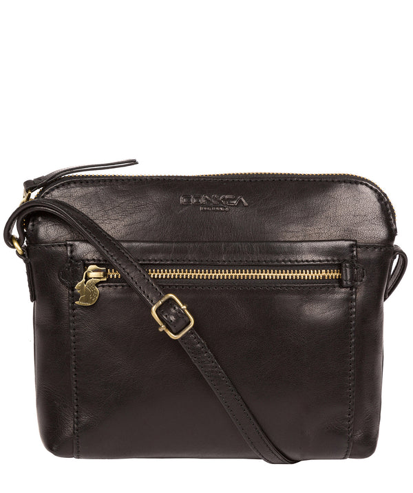 'Frida' Black Leather Cross Body Bag image 1