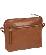 'Frida' Conker Brown Leather Cross Body Bag image 3