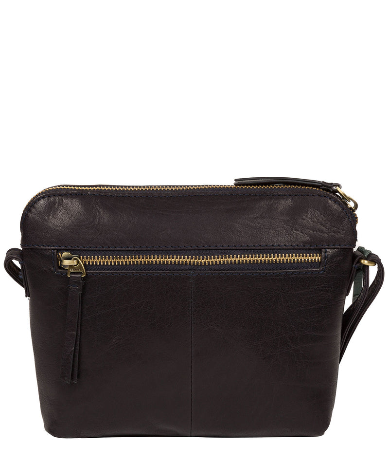 'Frida' Navy Leather Cross Body Bag image 3