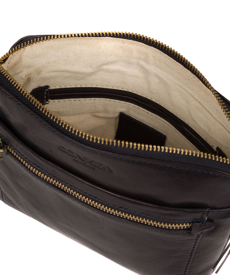 'Frida' Navy Leather Cross Body Bag image 4