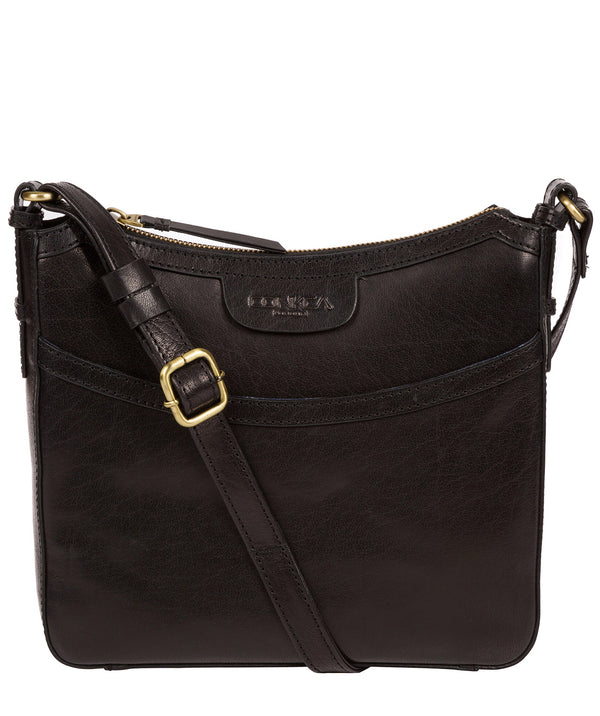 'Tamara' Black Leather Cross Body Bag image 1