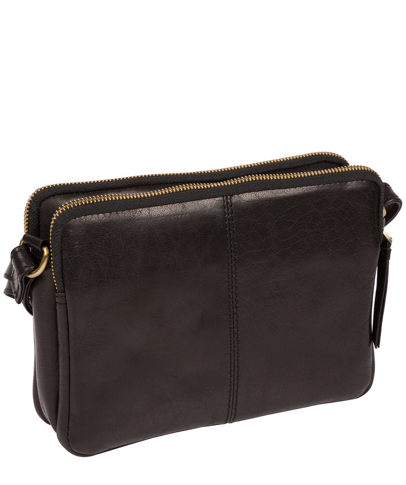 'Drew' Black Leather Cross Body Bag image 3