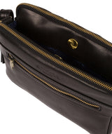 'Drew' Black Leather Cross Body Bag image 4