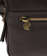 'Drew' Black Leather Cross Body Bag image 6