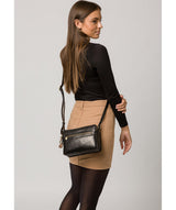 'Drew' Black Leather Cross Body Bag image 2