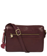'Drew' Plum Leather Cross Body Bag image 1