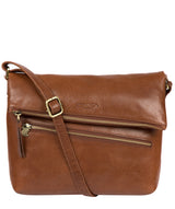 'Marina' Conker Brown Leather Shoulder Bag image 1
