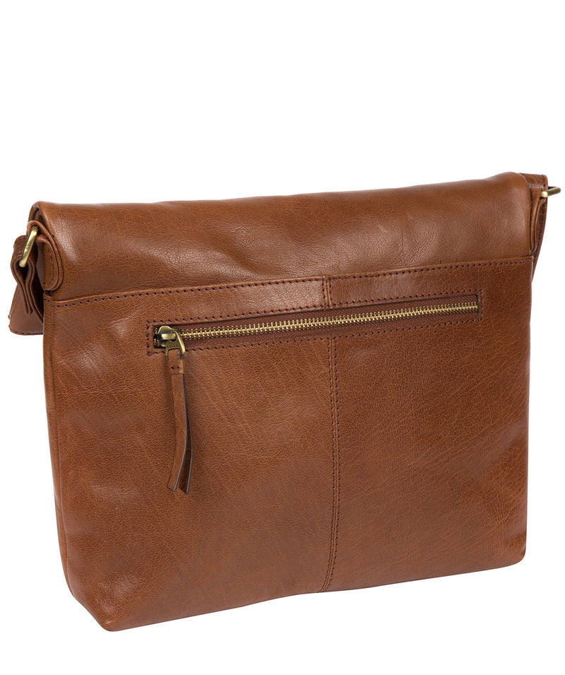 'Marina' Conker Brown Leather Shoulder Bag image 3