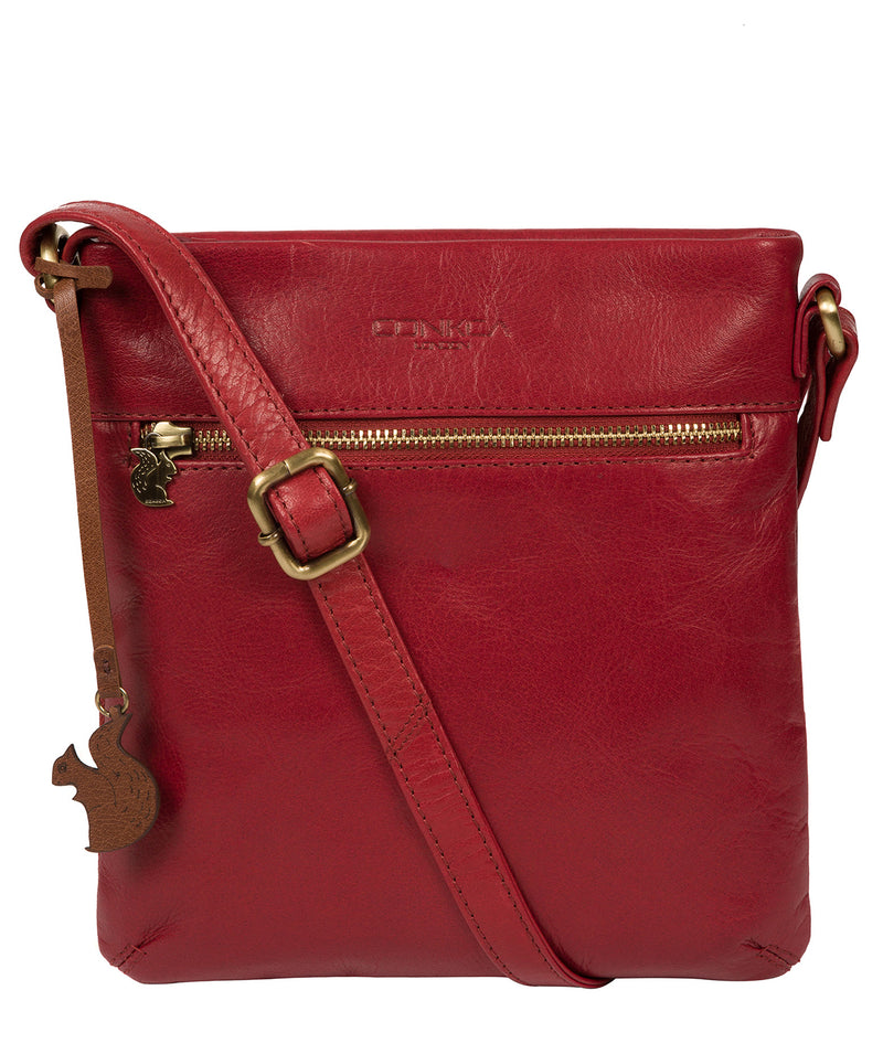 'Yayoi' Chilli Pepper Leather Cross Body Bag image 1