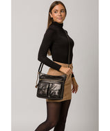 'Bon' Black Leather Cross Body Bag image 2