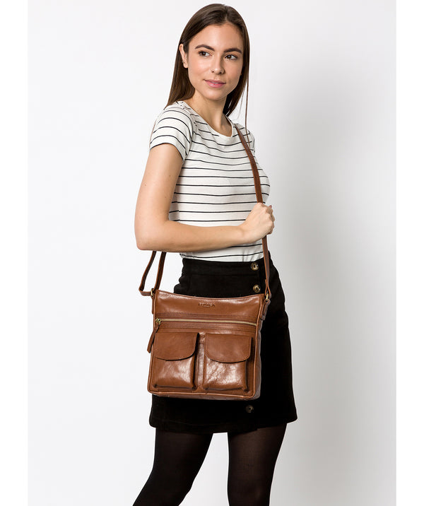 'Bon' Conker Brown Leather Cross Body Bag image 2