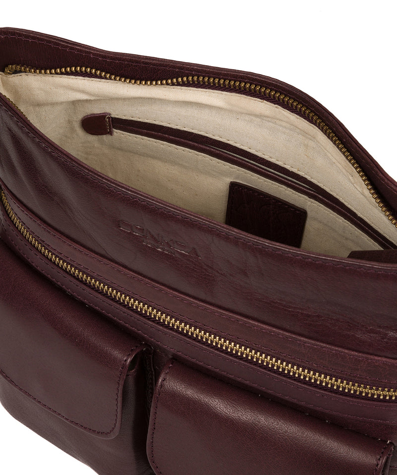'Bon' Plum Leather Cross Body Bag image 4