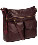 'Bon' Plum Leather Cross Body Bag image 5