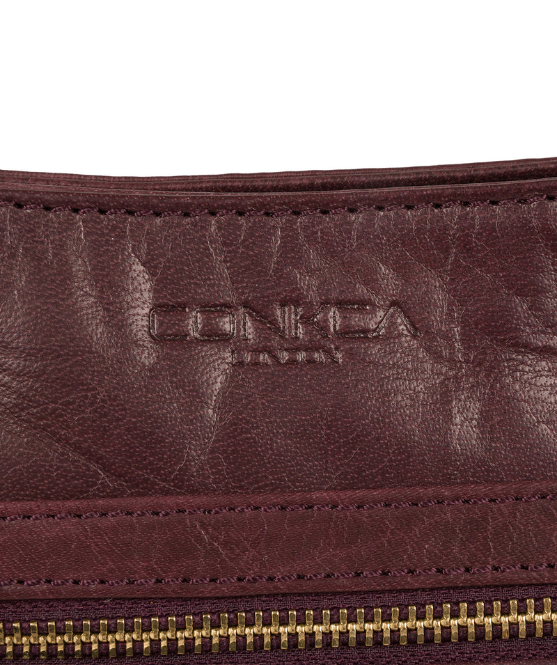 'Bon' Plum Leather Cross Body Bag image 6